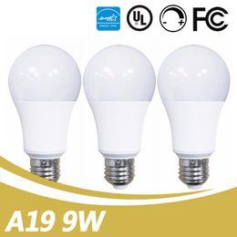 Wholesale Globe Market - LED A19 UL ES Certificated Bulb Self-created AC100V-130V 9W LED A19 A60 Bulb Lamp For USA Canada Market