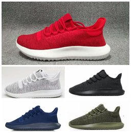 Wholesale white shadow box - 2017 With box Tubular Shadow Knit Running Shoes for men and women Tubular Shadow 3D 350 Sneaker sports Shoes boost Boosts sneakers eur36-45