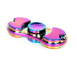 Wholesale Metallic Rainbow - 2017 Hot Toy EDC Hand Spinner Fidget Toy Good Choice For decompression anxiety Finger Toys rainbow color metallic hand spinner