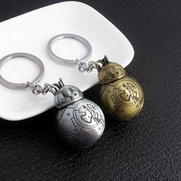 Wholesale Robot Keychain Metal - Best gift Spherical Robot Keychain Metal Pendant KR134 Keychains mix order 20 pieces a lot
