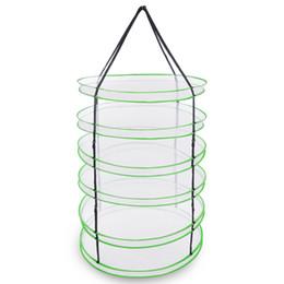 Hierba seca neta online-Estante de secado hidropónico de malla plegable de 3 pies y 6 capas c / bolsa seca de hierba Herb Bag
