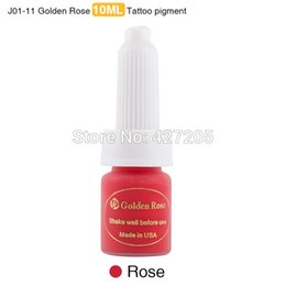 Wholesale Tattoo Ink Sales - Wholesale-New High Quality & Hot Sale Golden Rose 3pcs lot Rose Professional Permanent Makeup Pigment Tattoo Ink Kit