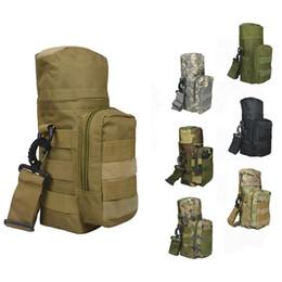 Molle del sacchetto della bottiglia online-Molle Oxford Borraccia Pouch Water-repellent Zipper Camo Water Bottle Tactical Pack Borsa di alta qualità per Travel + B