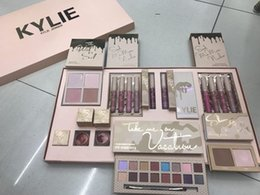 Wholesale Color Bug Set - in stock New Kylie Vacation Edition Collection Makeup set take me on vacation,Send me more Nude,Shinny Dip,the wet set,june bug 3 sets