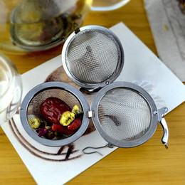 Wholesale Tea Balls Spoons - Silver 4.5cm Stainless Steel Tea Strainer Filter Infuser Mesh Spoon Locking Spice Ball