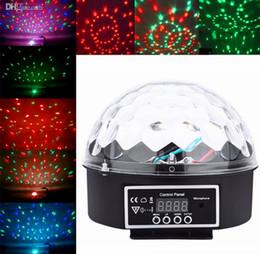 Wholesale Magic Ball Dmx - New Arrival Mini Voice-activated Disco DJ Stage Lighting LED RGB Crystal Magic Ball 6CH DMX 512 light 20W KTV Party 20pcs lot Freeshiping