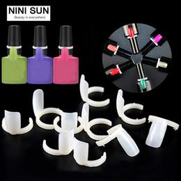 Wholesale Display Rings Nail - Wholesale- 50pcs UV Gel Color Pops Display Nail Art Ring False Tips On The Ring Nail Display DIY Practice Decoration Ring Display Tools