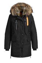 Wholesale Leather Fur Hooded Jackets Women - 2017 Hot Sale Parajumpers women's kodiak down Jacket Hoodies Fur Fashionable Winter Coats Warm Parka Free shipping