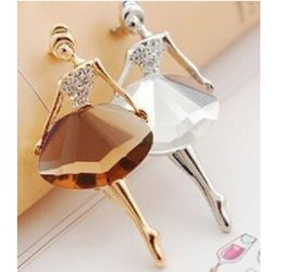 Wholesale Wholesale Bling Brooches - Wholesale- BA020 2016 New beautiful princess ballerina brooch   brooch exquisite bling jewelry brooch   ballet girl fashion accessories