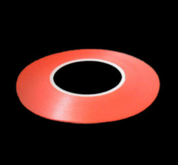 Wholesale Red Transparent Film - Wholesale- 2016 3mm Red Film Transparent Double Side Adhesive Tape High Temperature