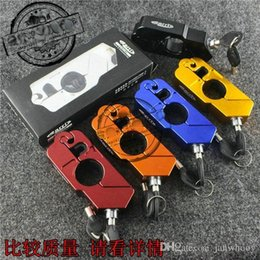 Wholesale Handle Grips For Scooters - Free shipping CNC cut Aluminum Handle Grip Security Lock Handlebar Brake Lever Lock for all Scooters Motorcycles Street Bikes