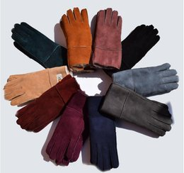 Wholesale Women Winter Gloves Leather - New Women Sheepskin Leather Gloves Female Winter Warm Fashion Windproof Antifreeze Gloves Hot Sale Free Shipping