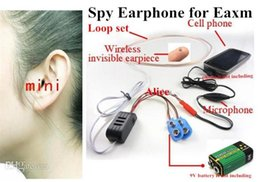 Wholesale Earpiece Earphone Hidden - 1pcs super Mini earphone wireless for FBI Hidden Cell Phone nano Earpiece covert Headphone