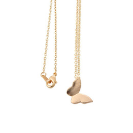 Wholesale Cute Friendship Gifts - Wholesale-2016 New Fashion 18K Gold Plated Simple Butterfly Women Long Chain Friendship Pendant Necklaces Cute Animal Women Party Gift