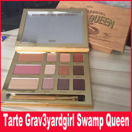 Wholesale Brush Outlet - Tarte palette Swamp Queen Eye Shadow in Bloom Clay Palette 12 Colors Eye Shadow By Tarte EyeShadow Palette with brush Factory Outlet DHL