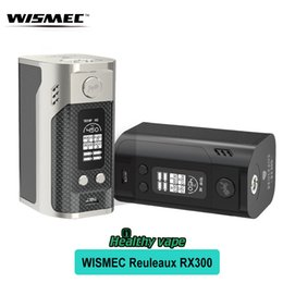 Wholesale Power Rc - Original Wismec Reuleaux RX300 Mod Leather RX 300 Box Mod fit 4 Battery Support Matching with RC adaptor as Power Bank 300w