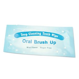 Wholesale Oral Care Products - 200PCS Pack Oral Brush Up Teeth Wipe Finger Teeth Wipes Dental Teeth Whitening Deep Cleansing Product Mini Flavor Oral Care