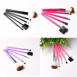 makeup brushes colour Coupons - 5pcs set Makeup Brush Set Synthetic Brushing Brush Professional Cosmetics Makeup Foundation Powder Blush Eyeliner Brushes (4 colour )