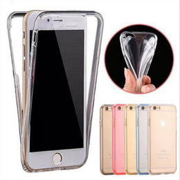 Wholesale Rubber Case Iphone Gold - For iPhone X 8 7 Case Ultra Thin 360 Degree Clear Cases Soft TPU Rubber Gel 2 in 1 Front and Back Cover Full body