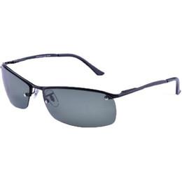 Wholesale Designer Sunglasses Clear Lens - 2017 Brand designer sunglasses 318 Polarized sunglasses for men oculos de sol masculino sport sunglasses metal frame with glass lens