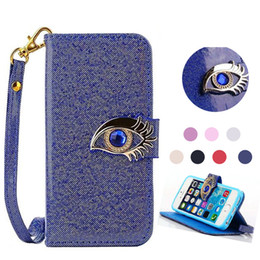Wholesale Eagle Eye Blue - Wallet Case Eagle Eyes Card Holder For iphone se 6 6s plus Samsung galaxy S5 S6 edge Note 5 Opp Bag