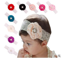 Wholesale Baby Headbands Diamond Rhinestones - Baby girl rose flower diamond rhinestone headbands children elastic hair band party Christmas hair jewelry Photography props gifts