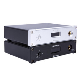 Wholesale Asynchronous Usb Dac - Freeshipping M6 HiFi Audio Decoder USB OTG DAC 32Bit 384KHz Headphone Amplifier Asynchronous Multifunction AMP Aluminum Enclosure Black