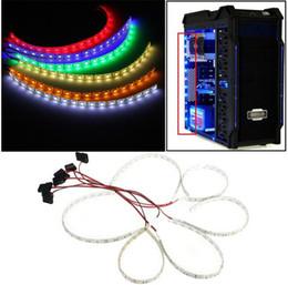 Canada 60cm étanche LED bande 5050 SMD DC12V 18 LED étui flexible LED bande Light Strip pour PC Case cheap orange led strip pc Offre