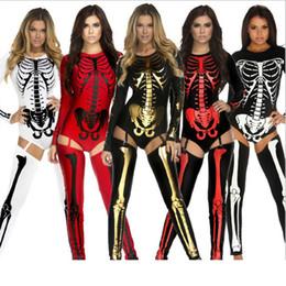 Vampiro cosplay sexy online-Nuovo Costume di Halloween Cosplay Cranio Strega Vampiro Regina Diavolo Fantasma Party Abbigliamento Grandi Bambini Donne Occasioni Speciali Vestiti Sexy HH-C38
