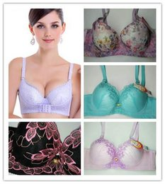 Wholesale Cheap Black Underwear For Women - Wholesale New Cheap Lady Lace Sexy Floral Push Up Bralette Cotton Underwear Plus Size Sexy Bra Underwire Adjustable Bras for women 7pc lot