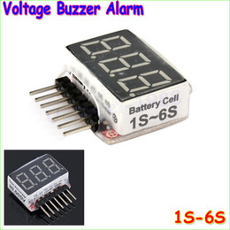 Wholesale 1s Lipo Battery Tester - 5PCS 1S-6S LED Low Voltage Buzzer Alarm Lipo Battery Voltage Indicator Checker Tester RC Quadcopter drone Accessories parts