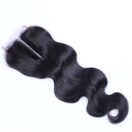 miglior pezzo di chiusura dei capelli Sconti Capelli vergini brasiliani 4X4 chiusura del merletto peruviano malese indiano mongolo onda del corpo dritto allentato profonda crespo dritto chiusure