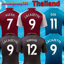 Wholesale Best Shirt Breathable - Best thailand aaa Season 2017 2018 soccer jerseys ALEXIS sanchez OZIL XHAKA GIROUD RAMSEY football shirts 17 18 LACAZETTE soccer uniforms