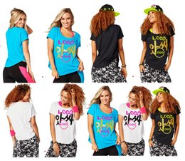 Wholesale Women S Dance Shirts - S M L woman T shirt tops Joy Tulip Top Yoga dance tops black blue white woman tshirt