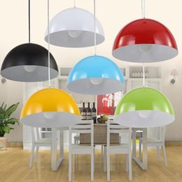 Wholesale Simple Study Room - Hanging lighting Semicircle aluminum single-head pendant light black white Red Multicolor Simple Fashion Pendant light Home pendant Lamps