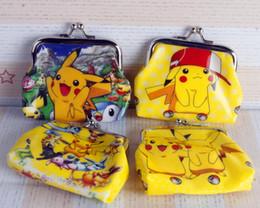 8e4cd3eb22 Nuovo fumetto 3D Poke Go Pikachu borsa della moneta Purses Zero con  pulsante di Ferro Bag Shell Wallet Bambini Regali pikachu bag economici