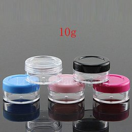 Wholesale colored plastic bottles - 10g colored empty bottles cosmetic containers,lip balm containers,lip gloss container 10cc,10ml makeup bottles ,50pc lot