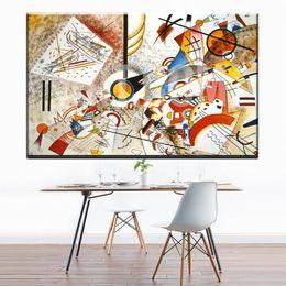 Wholesale Kandinsky Abstract Paintings - ZZ1172 Wassily Kandinsky painting abstract circle geometry classic art Home Decoration Canvas Poster Print wall decor art