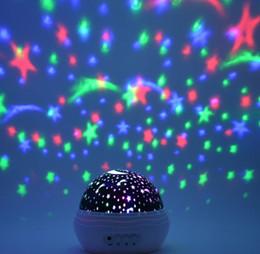 Wholesale Nightlight Stars - LED colorful rotating lamp Nightlight romantic roses creative new Star ProjectorLLFA