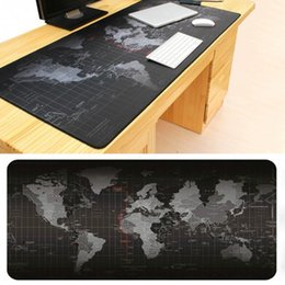 Wholesale Large Maps - Mairuige store new Super Large Size 90cm*40cm grande World Map mouse pads Speed Computer Gaming Mouse Pad Locking Edge Table Mat