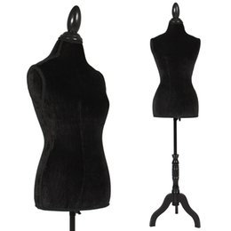 Manequins torsos on-line-Branco Feminino Mannequin Torso Dress Form Display W / Branco Tripé Stand