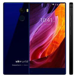 Wholesale Mp3 Player Radio 32gb - Vkworld Mix Plus Bezel-less 4G Lte Smartphone 5.5 Inch Android 7.0 Quad Core 3GB RAM 32GB ROM 13MP Camera Fingerprint 2850mAh