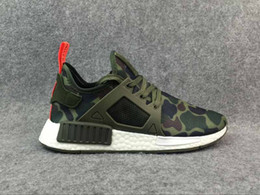 Wholesale Multi Coloured - Drop Shipping With Box 12 Colours NMD XR1 Mastermind X Camo Army Green For Men Women Running Shoes