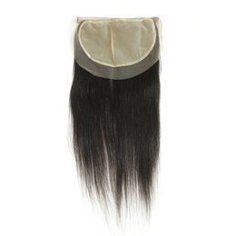 Wholesale Lace Closure Prices - Clearance Lowest Price 4x7 inch Double Net Lace Closure 12 inch Free Part Top Closure Silky Straight Virgin Human Hair