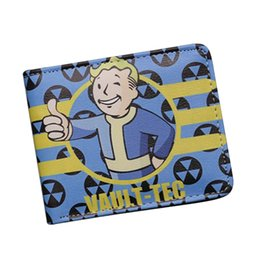 Wholesale Cute Small Boys - New 2017 Game Designer Cartoon Wallets Fallout 4 Vault Boy Wallet Small Slim Dollar Money Bag For Children Girls Cute Anime Wallet