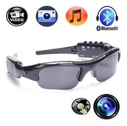 16342bcf5e 1280 * 720 P HD ocultos gafas de sol Bluetooth Sport gafas de sol espía  cámara grabadora de gafas de sol con auriculares Bluetooth y reproductor de  MP3 ...