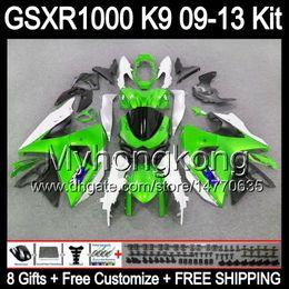 Wholesale Suzuki Gsxr Fairings Green - 8gifts gloss green For SUZUKI GSXR1000 09 10 11 12 13 GSXR-1000 12MY61 GSX R1000 K9 GSXR 1000 2009 2010 2011 2012 2013 green black Fairing