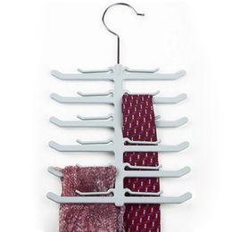 Wholesale Use Tie - Anti Slip Neck Tie Storage Holder Rack Home Oranizer Accessories Plastic Mini Easy Use Neck Tie Orgainzer Holder Rack MS613