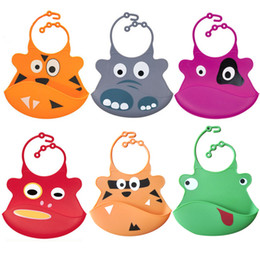 Wholesale Infant Silicone - Wholesale- NEW Washable Silicone Infant Feeding Baby Kid Bib Fun Characters Waterproof M09