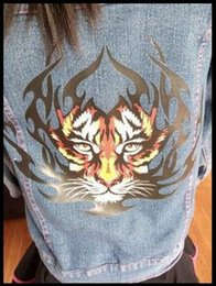 Wholesale Wholesale Christmas Iron Appliques - Personalized Tigers Patch Two Sizes In Stock Ironing Stickers For Clothes Heat Transfer A-level Washable Applique Christmas Gift